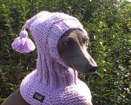 Dog Snood / Italian Greyhound Snood / Hand Knit Dog Hat