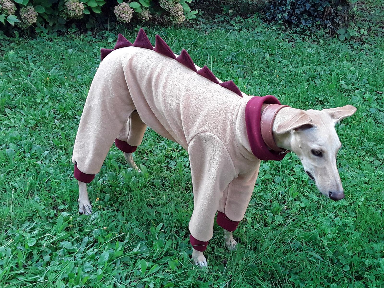 Greyhound Fleece Pajamas  Galgo Pajamas  Dog Pajamas  Dog Clothing  Dog Outfit  Pink Pajamas